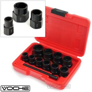 VOCHE® 10PC GRIP N TWIST SOCKETS LOCKING WHEEL NUT REMOVER DAMAGED ROUNDED BOLTS