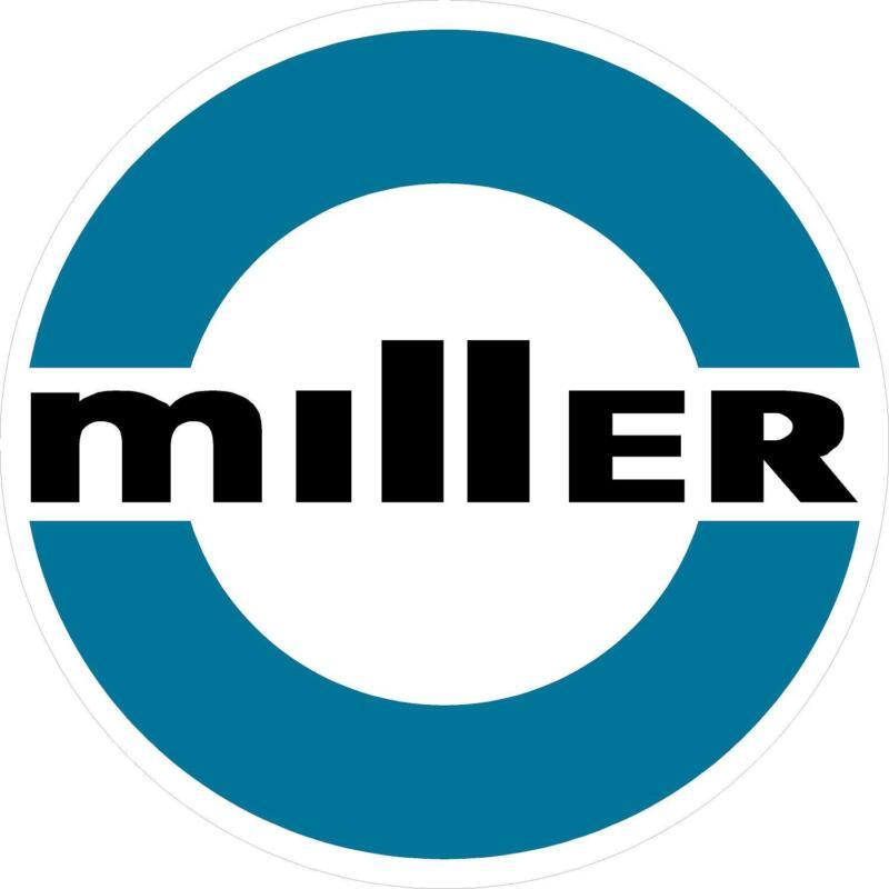 "MILLER WELDER 1980 DECAL STICKER - 5"" - SET OF 2"