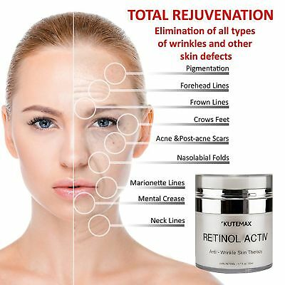 Best Retinol Cream for Face and Neck Zone Anti-Age Formula Reduces Wrinkles (Best Cream For Neck Wrinkles)