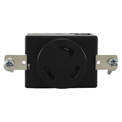 Conntek 80611 L5-30R Locking 3 Prong 30 Amp 125 Volt Flush Mount Receptacle