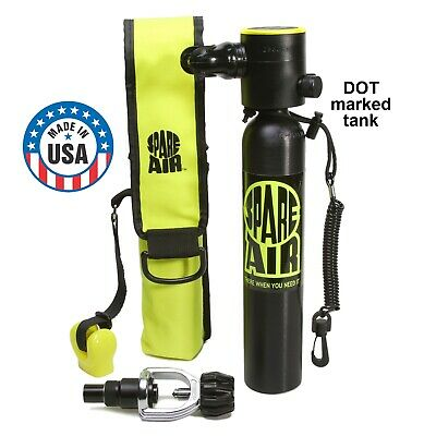 Spare Air 3.0 -The Original Mini Scuba Dive Tank Made in USA w/ DOT tank marking