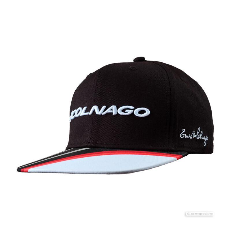 NEW Colnago RAP Flat Brim Podium Cap : BLACK/WHITE