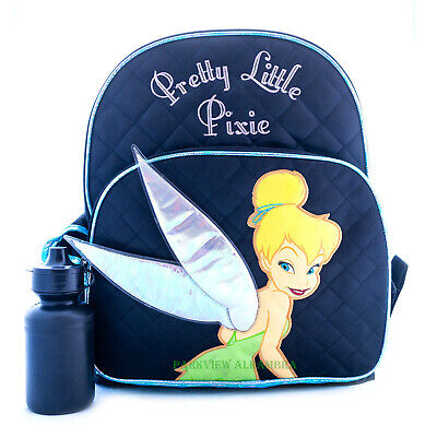 Tinkerbell Backpack, Lunch Bag with Water Bottle Disney Fairy and Friends Bag](Water Fairy Tinkerbell)