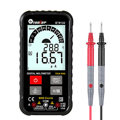 Acdc Voltage Current Resistance Frequency Capacitance Multimeter True Rms Lcd