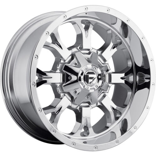 20x10 Chrome Fuel Krank D527 8x170 -24 Rims Nitto Mud Grappler 35X12.5X20 Tires