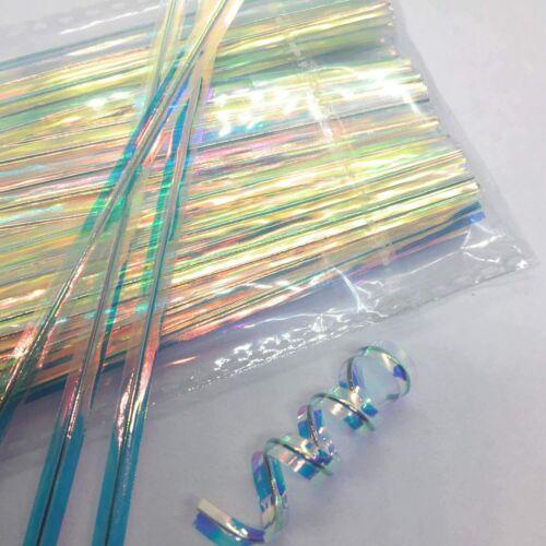 "100 Rainbow Unicorn Metallic Twist Ties 4"" Favor Gift Candy Bag Ties STRONG"