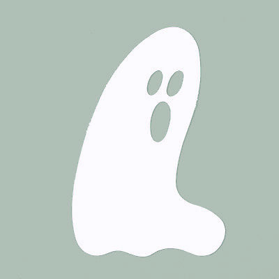 Ghost  Cutouts Plastic Shapes Confetti Die Cut 15 pcs  FREE SHIPPING](Halloween Cutouts Ghost)