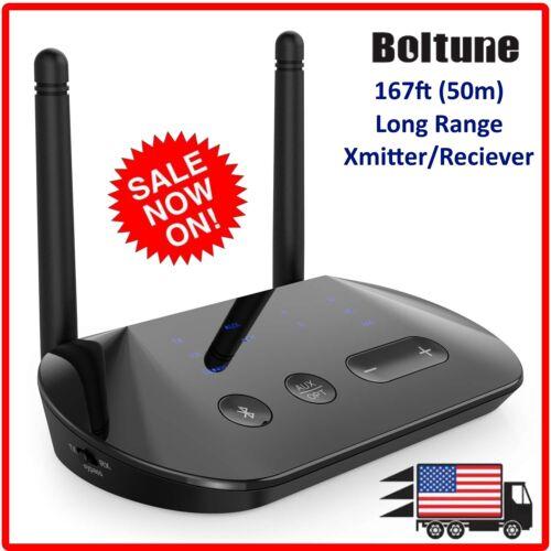 Boltune Bluetooth 5.0 aptX HD Low Latency Long Range transmitter  & Receiver
