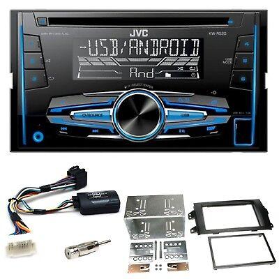 JVC KW-R520 Autoradio CD USB MP3 AUX Einbauset für Suzuki SX4 Fiat Sedici na sprzedaż  Wysyłka do Poland