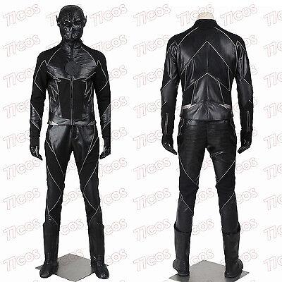 Cheap Made Halloween Costumes (The flash season 2 Hunter Zolomon Cosplay Costume Custom Made Halloween)