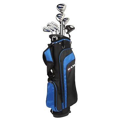 "Ram Golf EZ3 Tall Mens +1"" Golf Clubs Set with Stand Bag - Graphite/Steel Shafts"