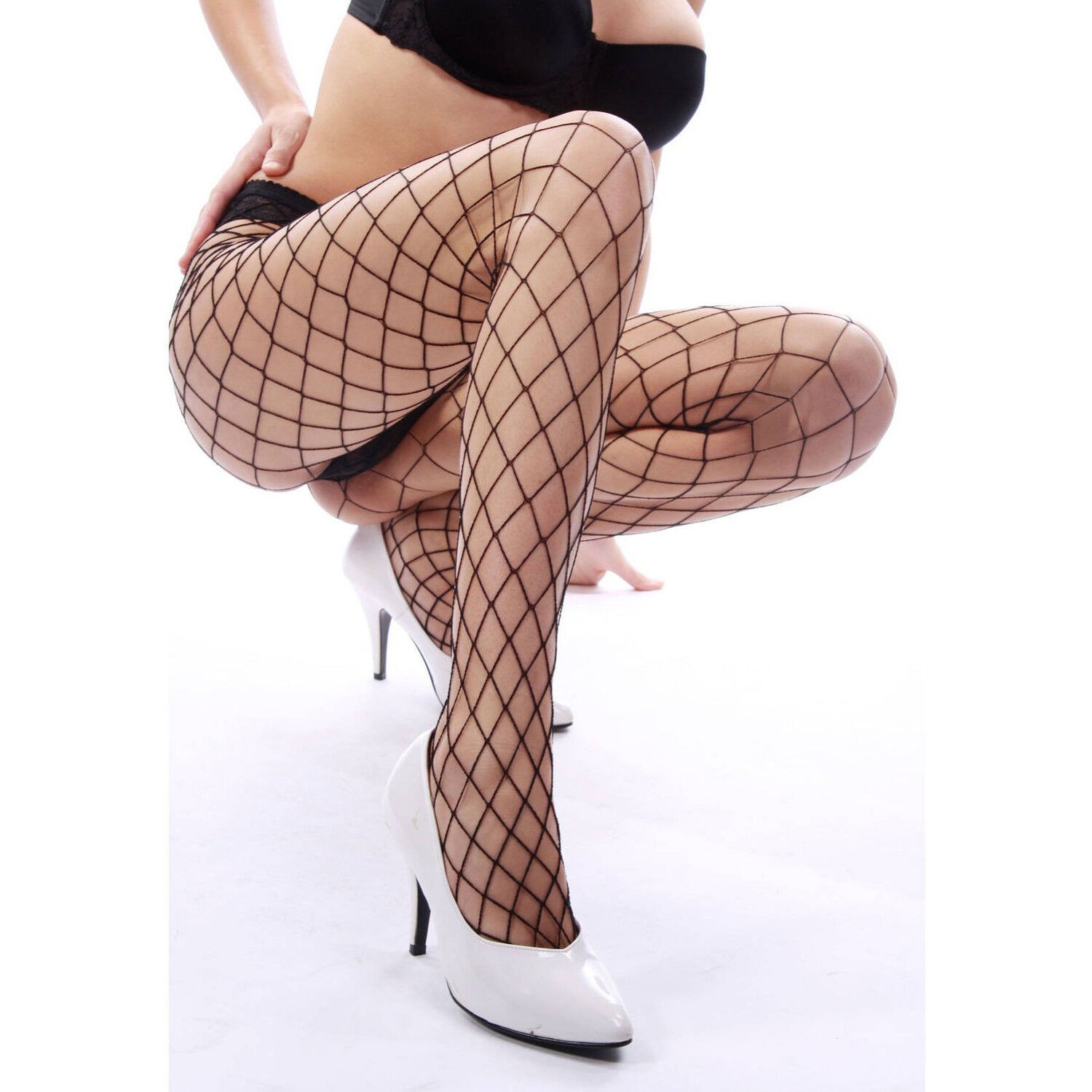Women's Sexy Fishnet Pantyhose Sheer Lace Stocking Tights Sexy Panty Hose 2Pairs Clothing, Shoes & Accessories