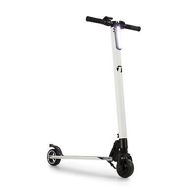 Patinete Electrico Plegable E- Scooter Monopatín Aluminio 250W 28 km/h Blanco