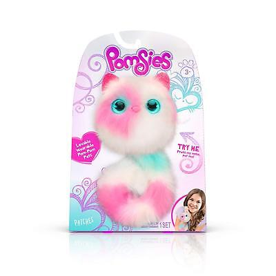 Pomsies: Patches Plush Wearable Interactive Toy (White/Pink/Mint) - NEW