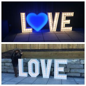 Love marquee letters and numbers