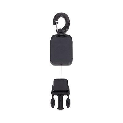 (Trident Clip On Mini Retractor with Male Quick Release Attachment )