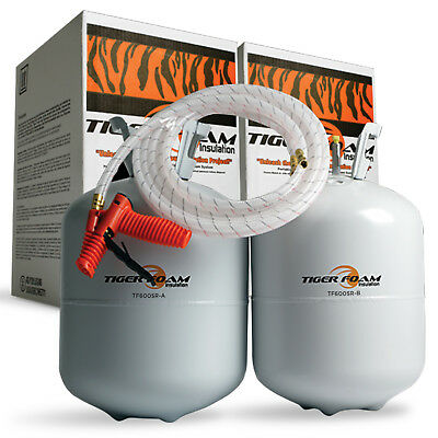 Tiger Foam 600bdft Slow Rise Spray Foam Insulation Kit - Free Shipping