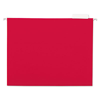 Universal Hanging File Folders 15 Tab 11 Point Stock Letter Red 25box 14118