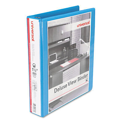 Universal Deluxe Round Ring View Binder 1-12 Capacity Light Blue 20723