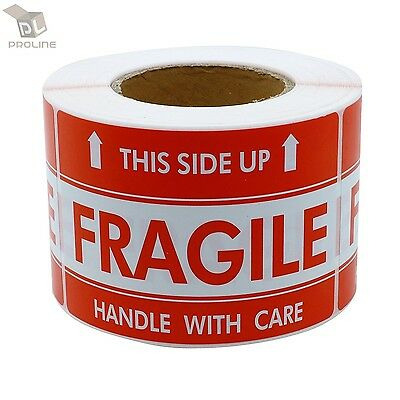 1000 Labels 2x3 Fragile This Side Up Shipping Mailing Handle With Care Stickers