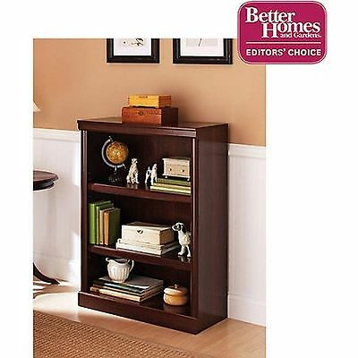 Bookcase 3 Shelf Storage Bookshelf Wood Furniture Adjustable Book Shelving