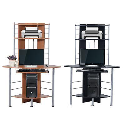 Computer Desk Corner PC Table Workstation Wood Storage Furniture Home Office