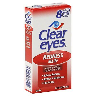 Clear Eyes Redness Relief Drops 1 oz (Pack of 6)