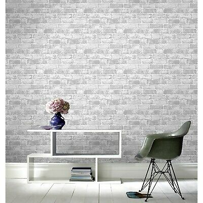 Arthouse Grey  Brick  Wallpaper