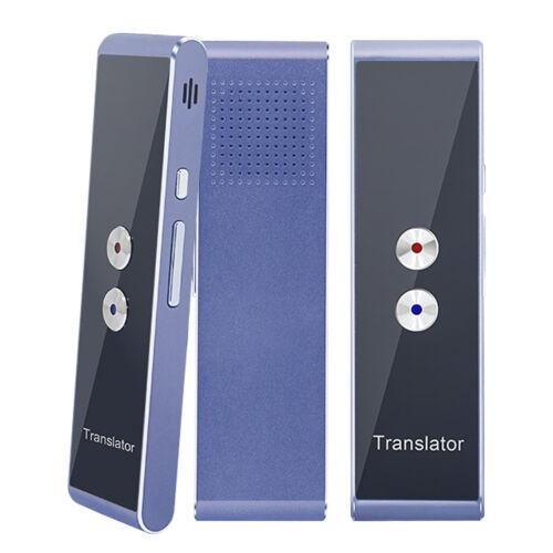 Two Way Easy Trans Smart Language Translator Device Electronic Pocket Voice-Blue