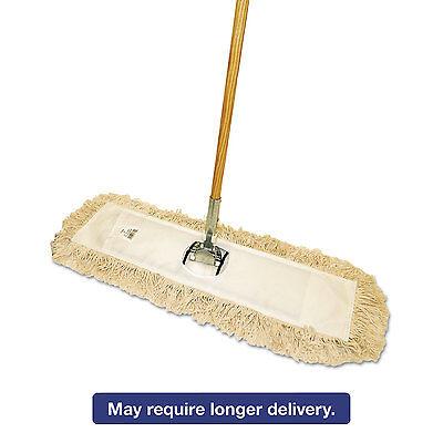 Boardwalk Cut-End Dust Mop Kit, 36 x 5, 60 Wood Handle, Natu