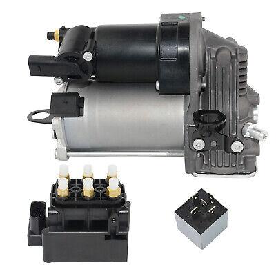 Für Mercedes-Benz GL ML 320 350 Luftfederung Kompressor + Ventilblock + Relais