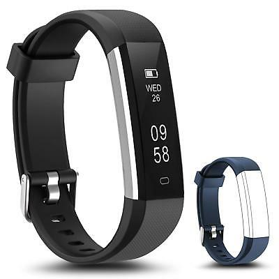 Fitness Tracker Bluetooth Heart Rate Fitbit Smart Watch Running Activity Monitor