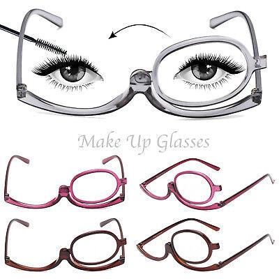 Folding Women Makeup Magnifying Reading Flip Make-up Eye Glasses Eyeglasses (Folding Eyeglasses)