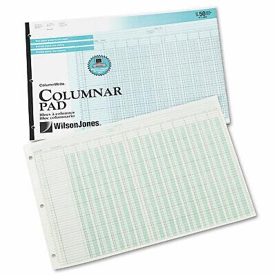 Wilson Jones Accounting Pad 13 Eight-unit Columns 11 X 16 38 50-sheet Pad