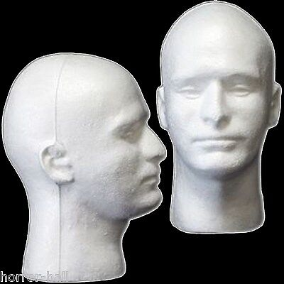 Styrofoam Head Halloween Decorations (New Prop Building Supplies-MANNEQUIN HEAD-Halloween Costume Mask Wig)