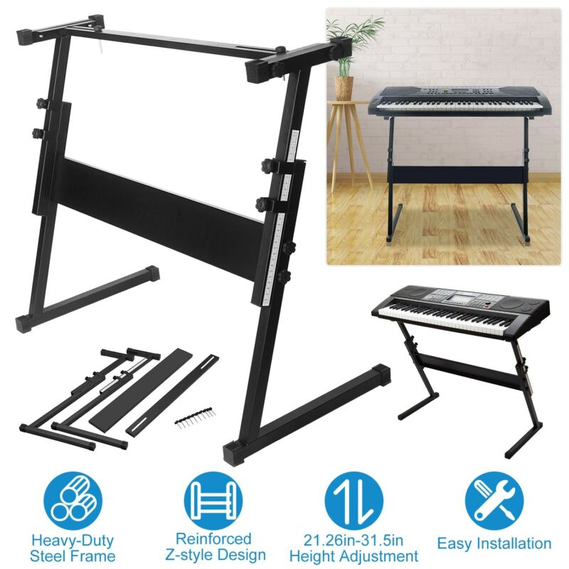 Adjustable Piano Keyboard Stand Z-style Iron Standard Rack Music Stands Rack