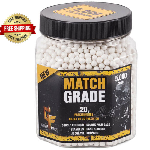 Game Face Airsoft Match Grade BBs Ammunition 0.20 Gram 5000 Count Best price