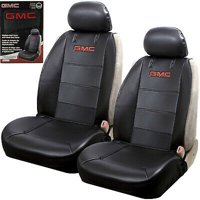 New GMC Elite Synthetic Leather Car Truck Suv 2 Front Sideless Seat Covers Set