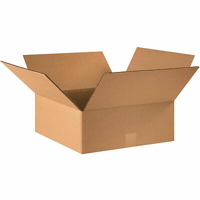 16 X 16 X 6 Flat Cardboard Corrugated Boxes 65 Lbs Capacity Ect-32 Lot Of