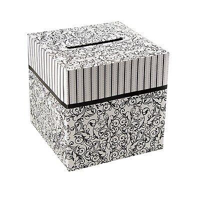 Black & White Wedding Card Money Gift Box Reception Wishing Well 10