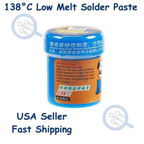 138°C Low Melt - Low Temperature Solder Paste Sn42/Bi58 for Micro Soldering