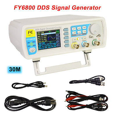 Fy6800 30mhz Dual-channel Arbitrary Waveform Dds Function Signal Generator Pulse