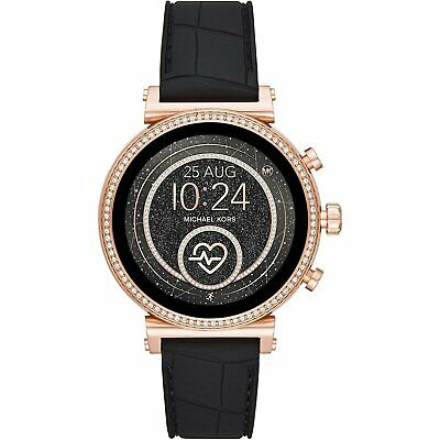 Michael Kors MKT5069 Smart Watch 41MM Women's Black Silicone Watch