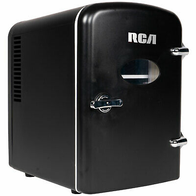 RCA Mini Retro Fridge 6 Can Beverage Compact Refrigerator an