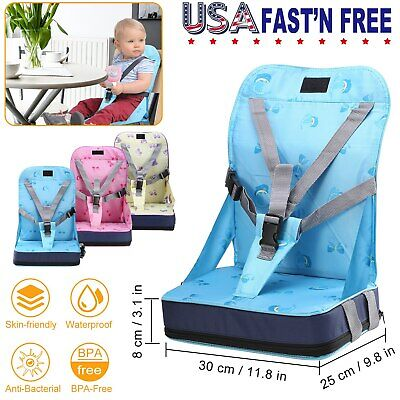 Portable High Chair Cover - Portable Baby Kids Toddler Feeding High Chair Booster Seat Cover Harness Cushion