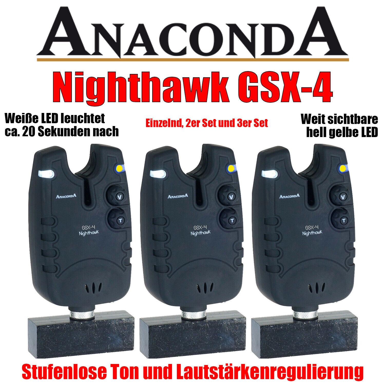 Anaconda Nighthawk GSX-4 Elektronischer Bissanzeiger - hell gelbe LED 1x, 2x 3x