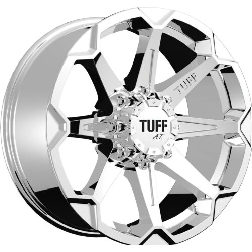 17x9 Chrome Tuff T05 5x4.5 & 5x5 +10 Rims Nitto Trail Grappler 285/70/17 Tires