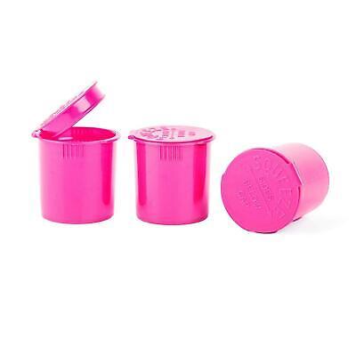 Pop Top Vial - 6 Dram - 1 Gram Pink Opaque - Child Resistant 600 Count