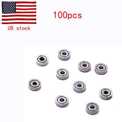 100pcs Iron 681zz 1mm3mm1mm Mini Ball Mini Bearings For Toy Model Use