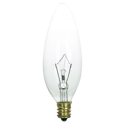 Krypton Candelabra - Sunlite 40W 120V Krypton Candelabra Torpedo Tip E12 Base Incandescent Light Bulb